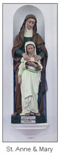 St.Ann Child Mary statues