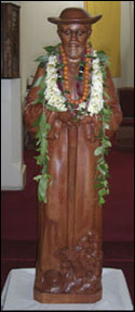 Saint Damien Statue, St. Joseh Church,Hilo