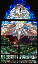 Stained Glass Window St.Joseph Church Hilo